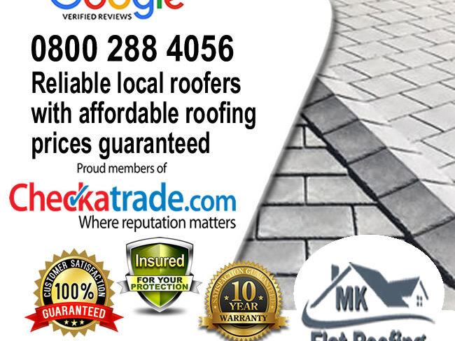 Rubber Roof Repairs by Local Roofers in MK